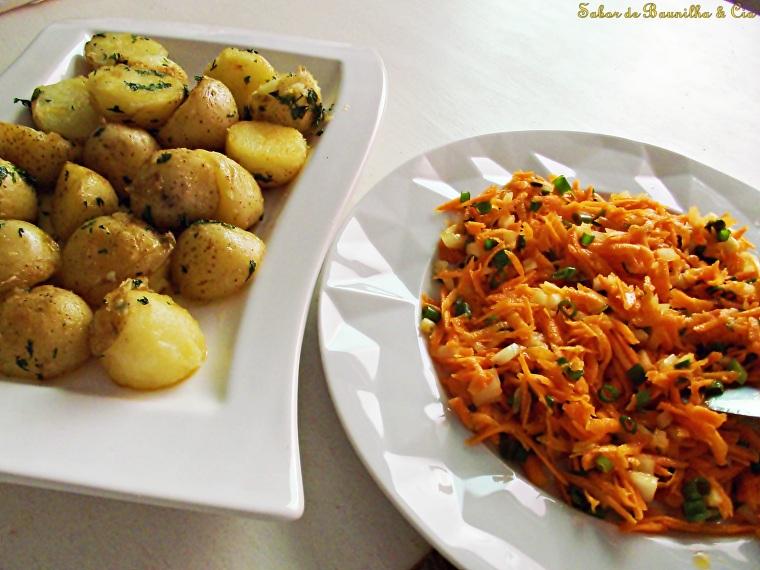 salada de cenoura e batatas cozidas